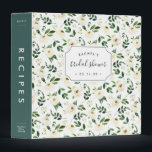 """Alabaster Floral Bridal Shower Recipe Binder<br><div class=""""desc"""">Collect recipes for the bride to be and organize them in this pretty floral binder with tons of personalization options! Chic binder features a pattern of white and ivory watercolor flowers and lush green foliage. Customize the front with the bride to be&#39;s name and shower date, and add customization to...</div>"""