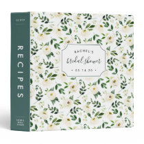Alabaster Floral Bridal Shower Recipe Binder