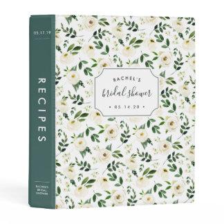 Alabaster Floral | Bridal Shower Recipe Mini Binder