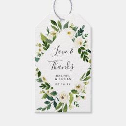 Alabaster Floral Frame | Wedding Favor Gift Tags
