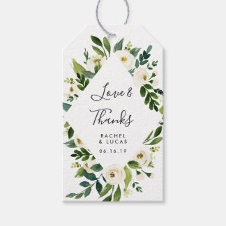 Alabaster Floral Frame | Wedding Favor Gift Tags