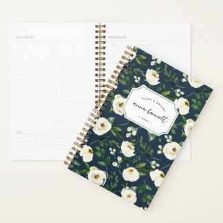 Alabaster Floral Personalized Planner