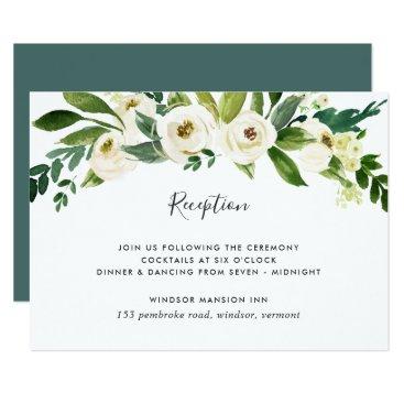 RedwoodAndVine Alabaster Floral Reception Card