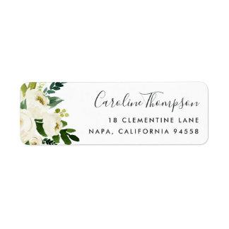 Alabaster Floral Return Address Label