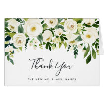 Alabaster Floral Thank You Card