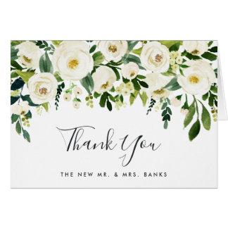 Alabaster Floral Thank You Card
