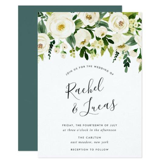 Zazzle Wedding Invitations.Alabaster Floral Wedding Invitation