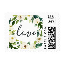 Alabaster Floral Wedding LOVE Postage