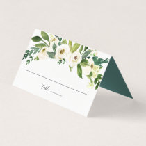 Alabaster Floral Wedding Place Card