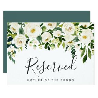 Alabaster Floral Wedding Reserved Sign Invitation