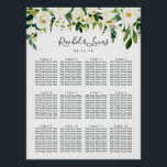 "Alabaster Floral Wedding Seating Chart<br><div class=""desc"">Wedding seating chart matches our Alabaster Floral collection,  featuring lush watercolor botanical greenery and white flowers framing your guest seating details.</div>"