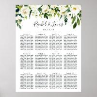 Alabaster Floral Wedding Seating Chart
