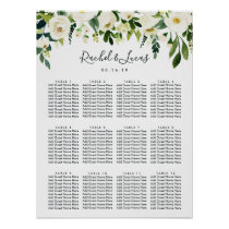 Alabaster Floral Wedding Seating Chart