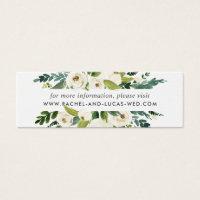 Alabaster Floral Wedding Website Cards
