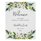 Alabaster Floral Wedding Welcome Poster