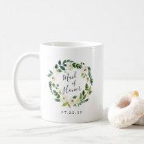 Alabaster Floral Wreath Maid of Honor Coffee Mug