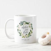Alabaster Floral Wreath Mother of the Bride Coffee Mug