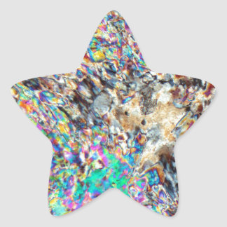 Alabaster Micrograph Star Sticker