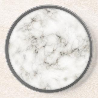 Alabaster Obsidian Pewter Rim marble coasters