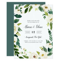 Alabaster Save the Date Card
