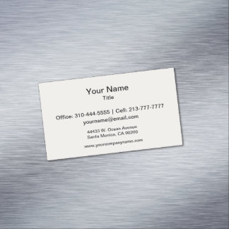 Alabaster Solid Color Customize It Business Card Magnet