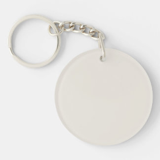 Alabaster Solid Color Double-Sided Round Acrylic Keychain