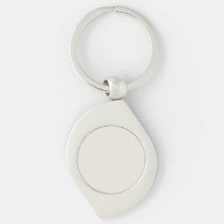 Alabaster Solid Color Silver-Colored Swirl Metal Keychain