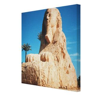 Alabaster Sphinx, New Kingdom Stretched Canvas Prints