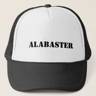 alabaster trucker hat