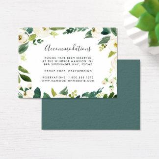 Alabaster | Wedding Hotel Accommodation Cards