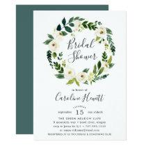 Alabaster Wreath Bridal Shower Invitation