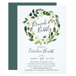 Alabaster Wreath Brunch & Bubbly Shower Invitation