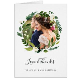 Alabaster Wreath | Wedding Photo Thank You Card