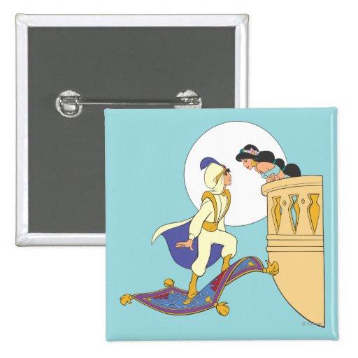 Aladdin and Jasmine Pinback Button