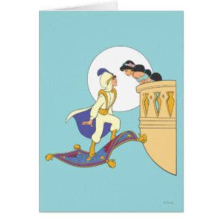 Aladdin and Jasmine Card