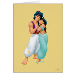 Greeting Card with Aladdin Loves Jasmine Forever design