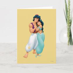 Standard Card with Aladdin Loves Jasmine Forever design