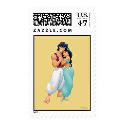Medium Stamp 2.1' x 1.3' with Aladdin Loves Jasmine Forever design