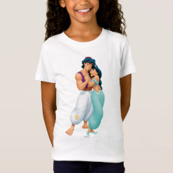 Girls' Fine Jersey T-Shirt with Aladdin Loves Jasmine Forever design