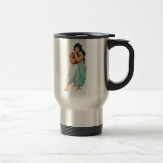 Aladdin and Jasmine Hugging 2 Travel Mug
