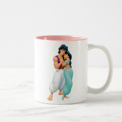 Two-Tone Mug with Aladdin Loves Jasmine Forever design