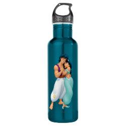 Water Bottle (24 oz) with Aladdin Loves Jasmine Forever design