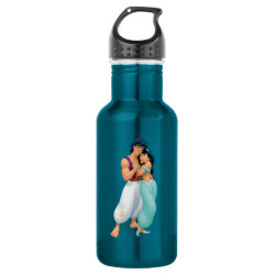 Water Bottle (24 oz) with Aladdin Loves Jasmine Forever design