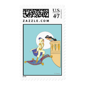 Aladdin and Jasmine Postage Stamp