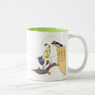 Aladdin and Jasmine Two-Tone Coffee Mug