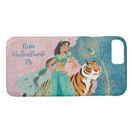 "Aladdin | Jasmine & Raja ""Never Underestimate Me"" iPhone 8/7 Case"
