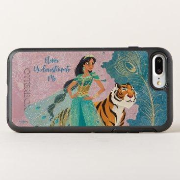 "Aladdin   Jasmine & Raja ""Never Underestimate Me"" OtterBox Symmetry iPhone 8 Plus/7 Plus Case"