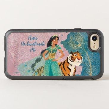 "Aladdin   Jasmine & Raja ""Never Underestimate Me"" OtterBox Symmetry iPhone 8/7 Case"