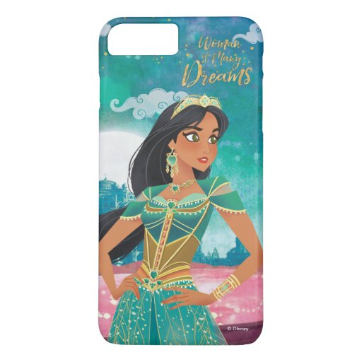 "Aladdin | Jasmine ""Woman of Many Dreams"" iPhone 8 Plus/7 Plus Case"