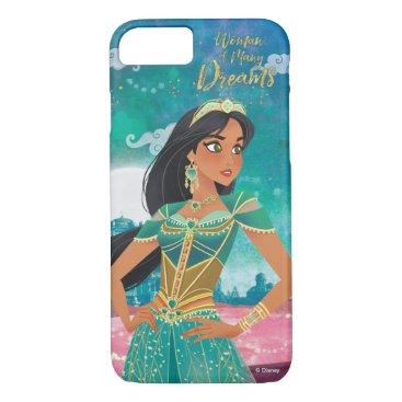 "Aladdin   Jasmine ""Woman of Many Dreams"" iPhone 8/7 Case"